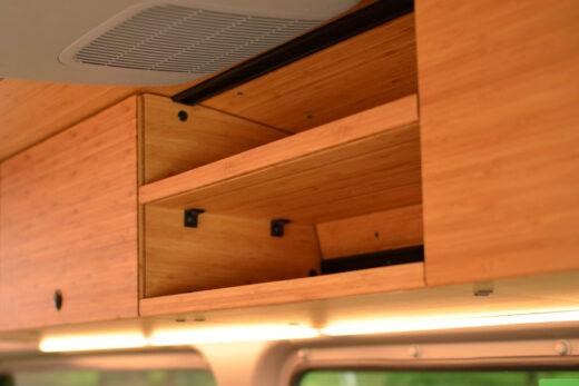 Sprinter van conversion - modular upper cabinets